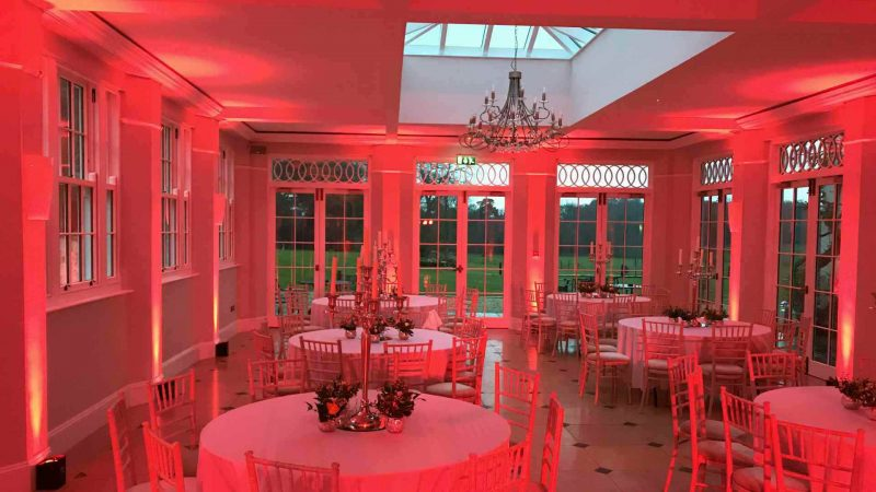 LED Uplighting Hire Rockbeare Manor Devon
