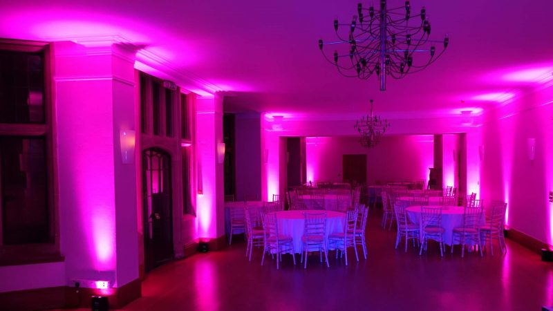 Led Uplighting at Coombe Lodge Balgdon Bristol