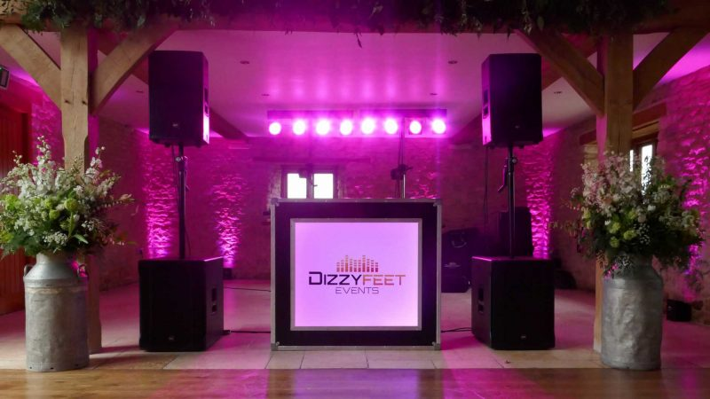 Mobile DJ Wedding Disco Hire Kingscote Barn Tetbury