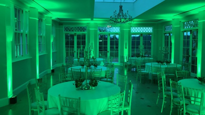 Rockbeare Manor Exeter LED Uplighting Hire Wedding Party