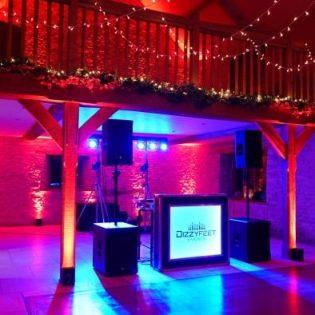 Kingscote Barn Wedding Party LED Lights Wedding DJ Hire